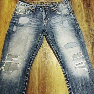 Rock Revival© Jeans 👖 36×32 Dasham Straight